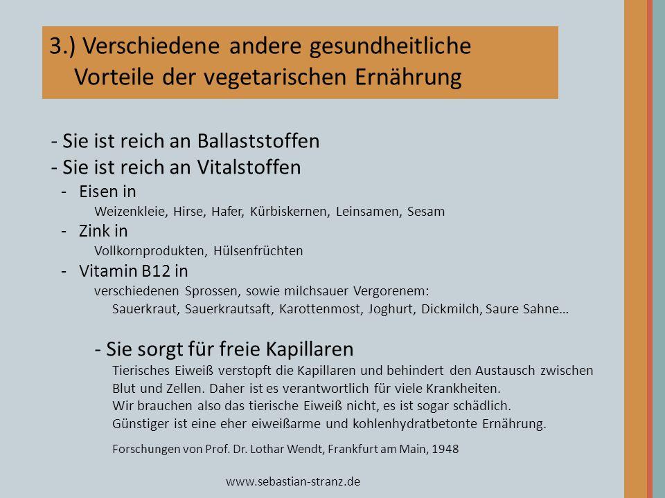 www.sebastian-stranz.de - Sie ist reich an Ballaststoffen - Sie ist reich an Vitalstoffen -Eisen in Weizenkleie, Hirse, Hafer, Kürbiskernen, Leinsamen