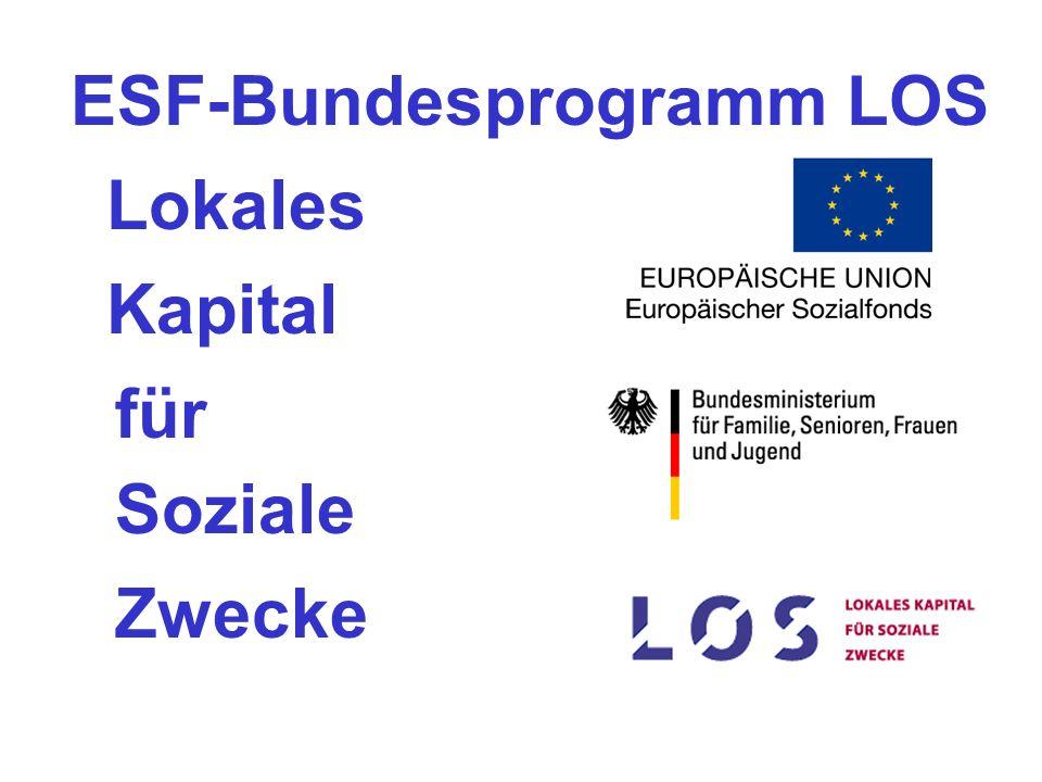ESF-Bundesprogramm LOS Lokales Kapital für Soziale Zwecke