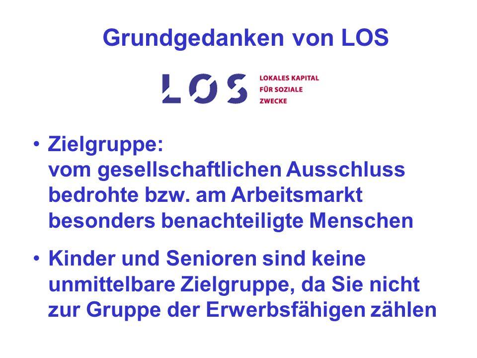 Grundgedanken von LOS Zielgruppe: vom gesellschaftlichen Ausschluss bedrohte bzw.