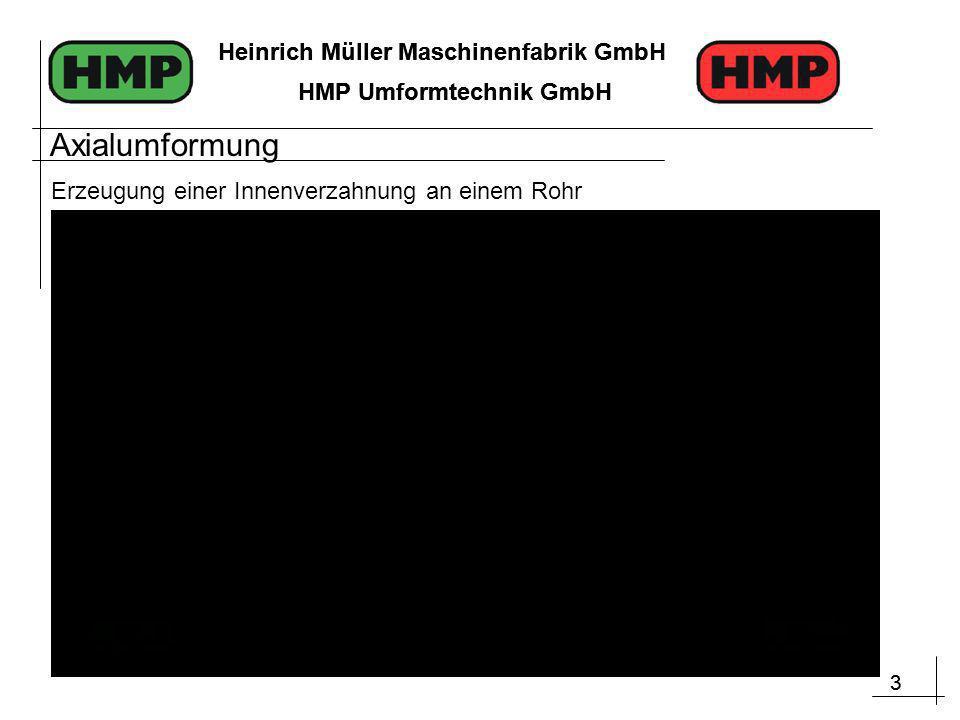 3 Heinrich Müller Maschinenfabrik GmbH HMP Umformtechnik GmbH 3 Heinrich Müller Maschinenfabrik GmbH HMP Umformtechnik GmbH Erzeugung einer Innenverza