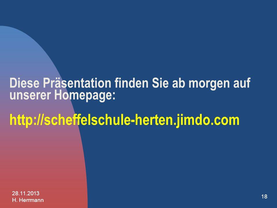 17 - Die Entscheidung müssen Sie alleine treffen! 28.11.2013 H. Herrmann