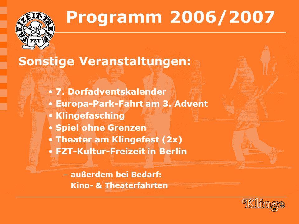 Sonstige Veranstaltungen: 7. Dorfadventskalender Europa-Park-Fahrt am 3.