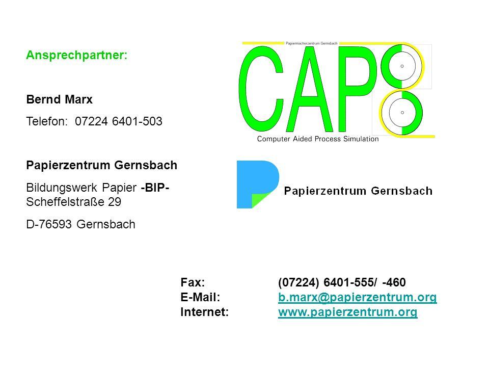 Ansprechpartner: Bernd Marx Telefon:07224 6401-503 Papierzentrum Gernsbach Bildungswerk Papier -BIP- Scheffelstraße 29 D-76593 Gernsbach Fax:(07224) 6