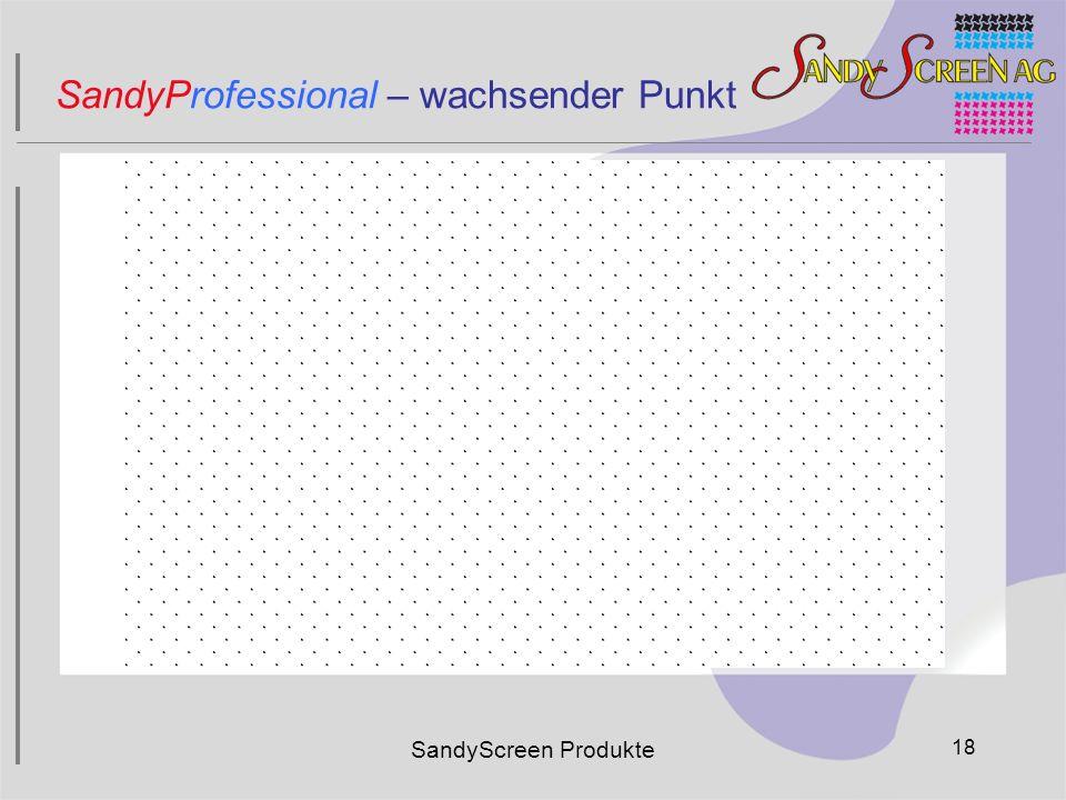 SandyScreen Produkte 18 SandyProfessional – wachsender Punkt