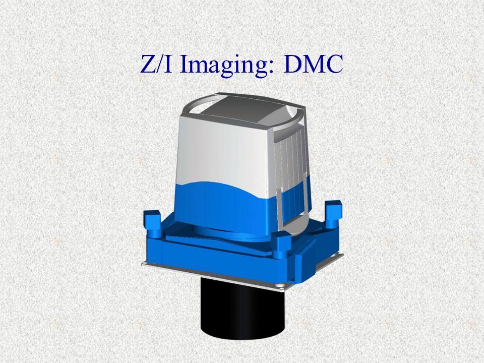« Modular »: Kombination von mehreren Kameraköpfen - 2 oder 4 hochauflösende panchromatische Kameras - bis zu 4 multispektrale Kameras Bild wird zusammengesetzt: Bildgröße 12000 x 8000 Pixel