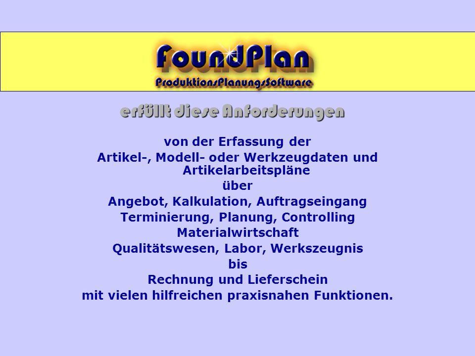 Produktion FORMEN - Planung Bericht Produktionsplan Formen getrennt nach Formmaschinen