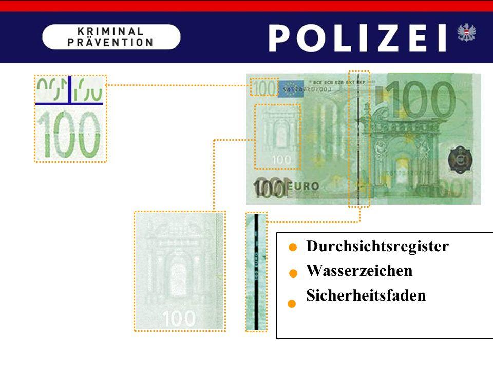 Falschgeld SEHEN – KIPPEN – FÜHLEN GELDPRÜFGERÄTE