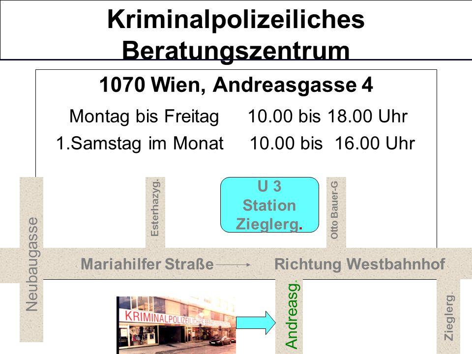Ursula IFKOVITS, AbtInsp. Bundespolizeidirektion Wien Landeskriminalamt Wien AB 04 – Kriminalprävention Tel.: 01 31310 – 37411 DW Mobil: 0664 – 827 90
