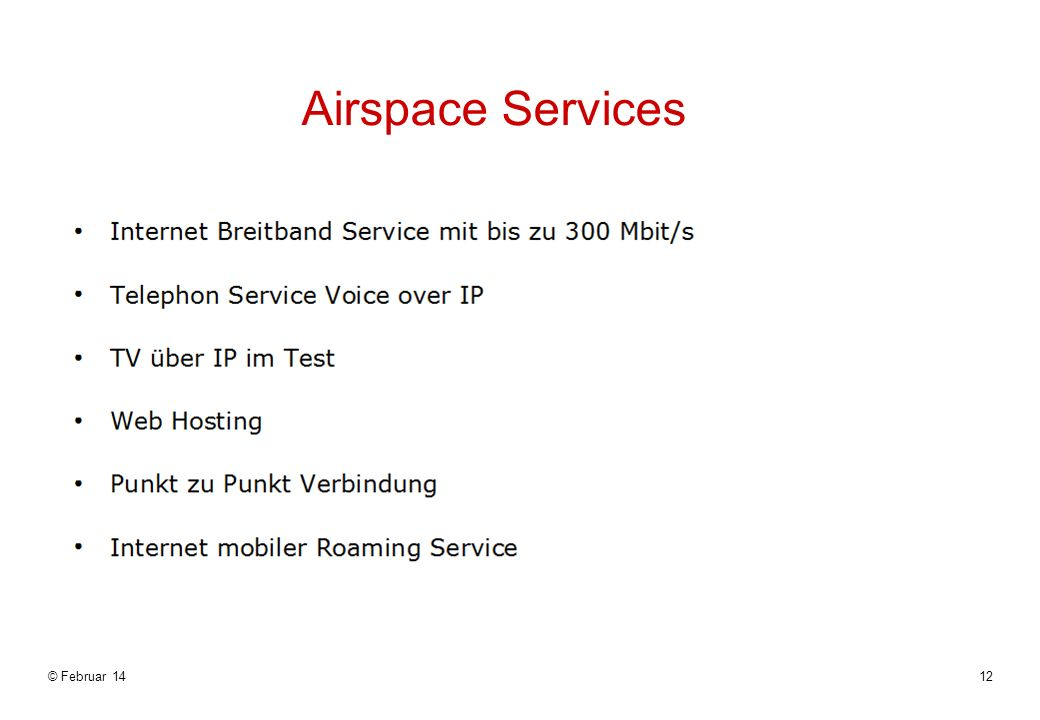 Airspace Services © Februar 1412