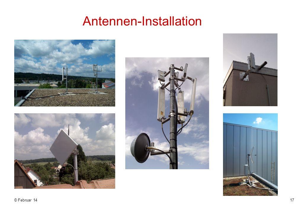 © Februar 1417 Antennen-Installation