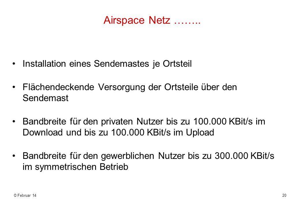 © Februar 1420 Airspace Netz ……..