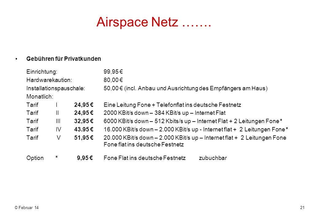 Airspace Netz …….