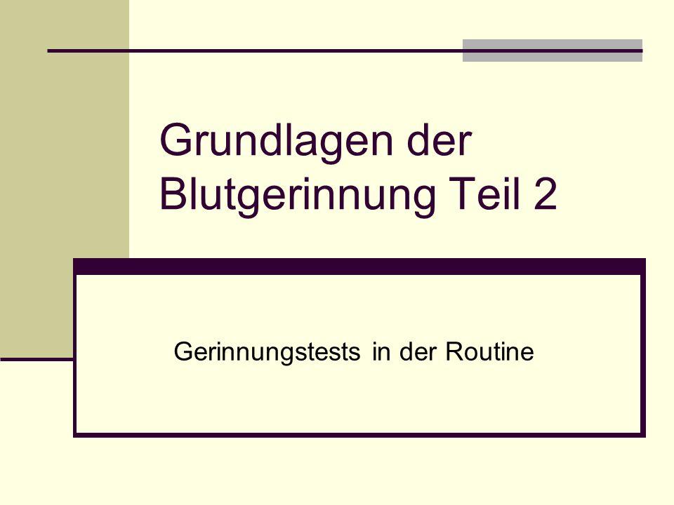 Inge Vonnieda Grundlagen der Blutgerinnung Teil 232 aPTT - Heparin Unfraktioniertes Heparin (Liquemin ® ) verlängert die aPTT v.a.