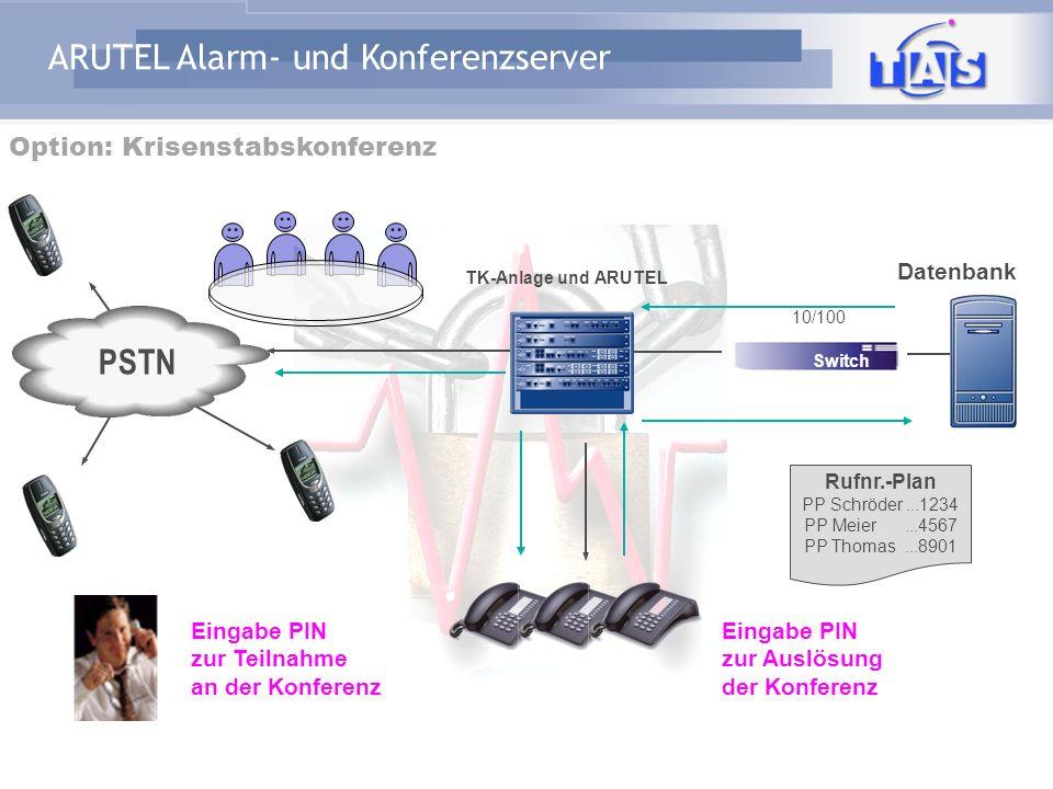 ARUTEL Alarm- und Konferenzserver Notfalltelefon BürgertelefonInfoservice Alarmierung Benachrichtigung Hotel Alarm Hotline-Verfügbarkeit Service Call