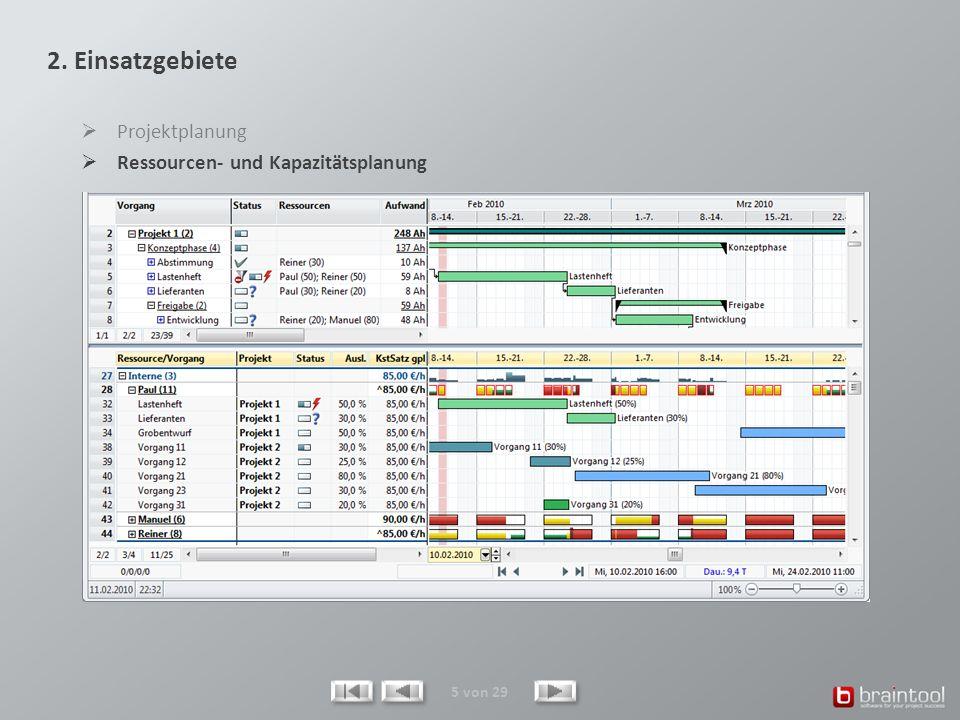 26 von 29 Reports können im MS-Excel-Format erzeugt werden und sind beliebig anpassbar.