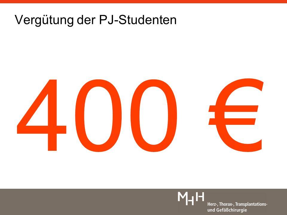 Vergütung der PJ-Studenten 400