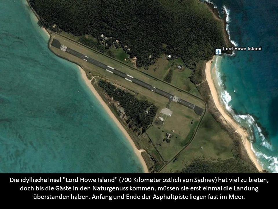 Auf nur knapp 1.000 Meter Länge kommt die Piste der Pazifik-Insel.