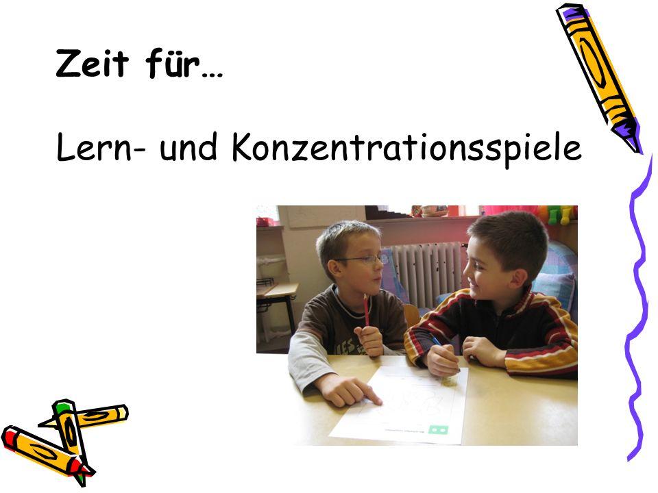 Zeit für… Lern- und Konzentrationsspiele
