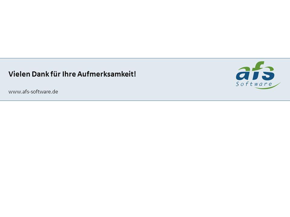 Marco Hellwig Grebenauer Straße 18 36287 Breitenbach - Hatterode AFS-Software GmbH & Co. KG Klaustor 3 36251 Bad Hersfeld Vielen Dank für Ihre Aufmerk