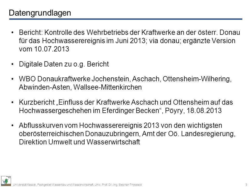 14Universität Kassel, Fachgebiet Wasserbau und Wasserwirtschaft, Univ.
