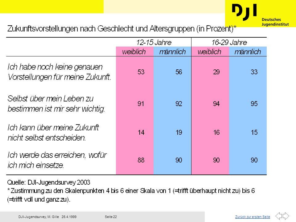 Zurück zur ersten Seite26.4.1999DJI-Jugendsurvey, M. GilleSeite 23