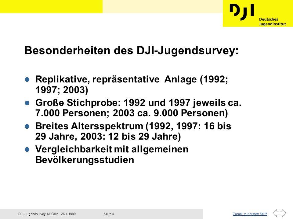 Zurück zur ersten Seite26.4.1999DJI-Jugendsurvey, M. GilleSeite 5