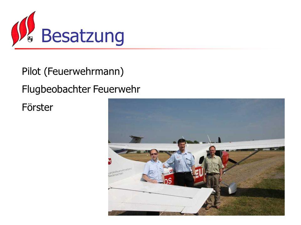 Besatzung Pilot (Feuerwehrmann) Flugbeobachter Feuerwehr Förster