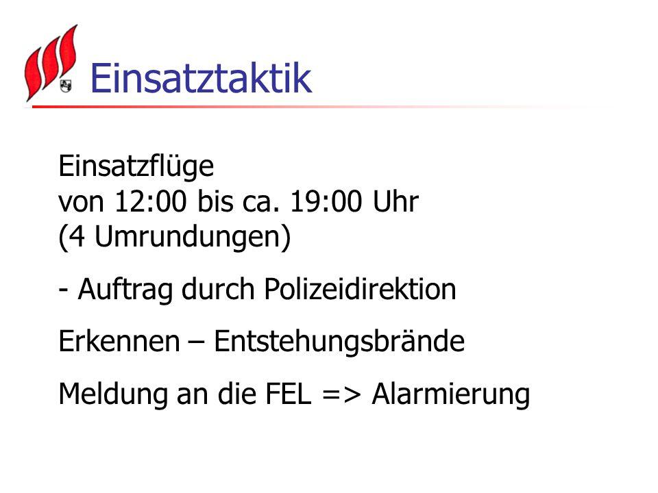 Einsatztaktik Einsatzflüge von 12:00 bis ca.
