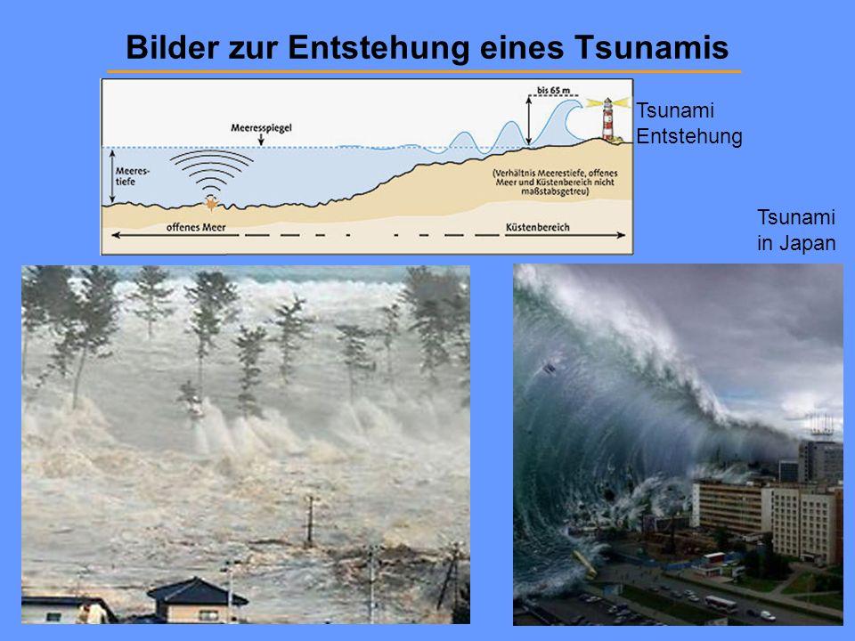 Bilder zur Entstehung eines Tsunamis Tsunami Entstehung Tsunami in Japan