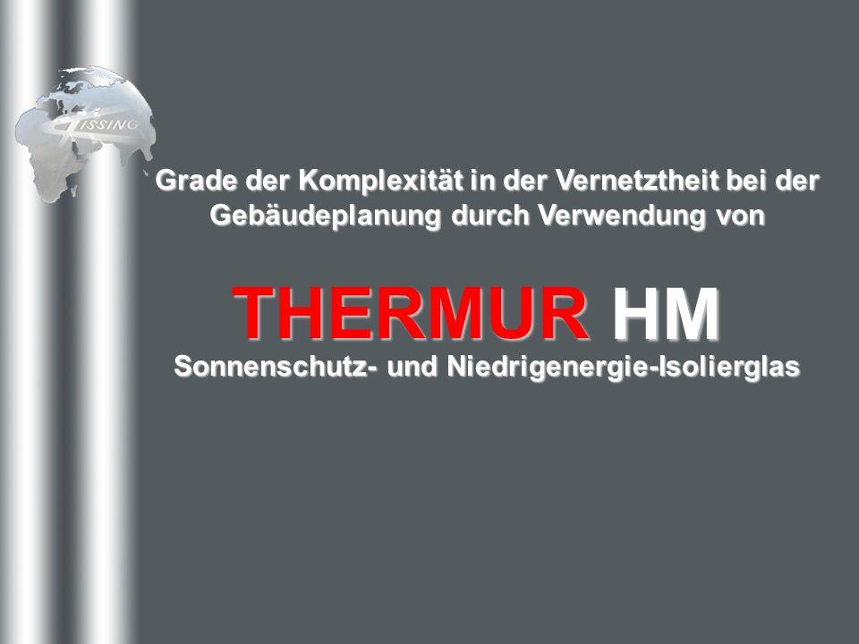 Grade der Komplexität in der Vernetztheit bei der Gebäudeplanung durch Verwendung von THERMURHM Sonnenschutz- und Niedrigenergie-Isolierglas