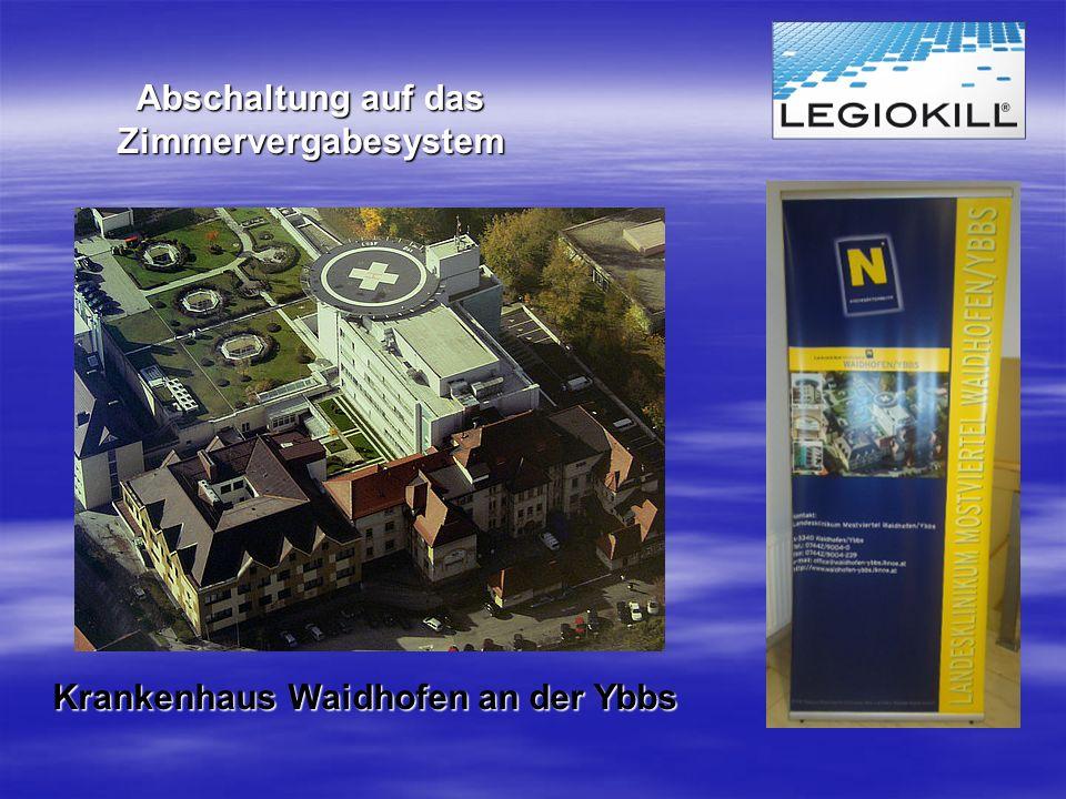 Abschaltung auf das Zimmervergabesystem Krankenhaus Waidhofen an der Ybbs