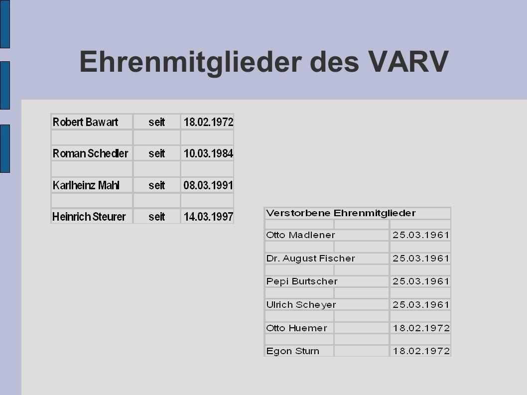 Ehrenmitglieder des VARV