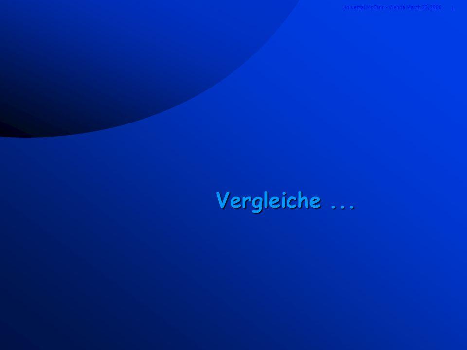 1 Universal McCann - Vienna March 23, 2000 Vergleiche...