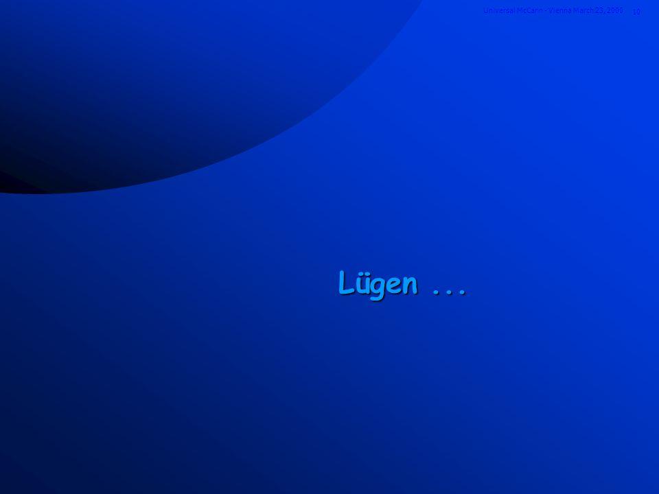 10 Universal McCann - Vienna March 23, 2000 Lügen...