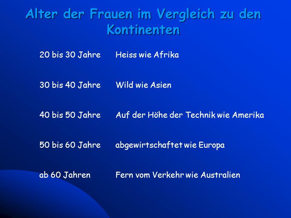 4 Universal McCann - Vienna March 23, 2000 Alter der Frauen im Vergleich zu den Kontinenten 20 bis 30 JahreHeiss wie Afrika 30 bis 40 JahreWild wie As