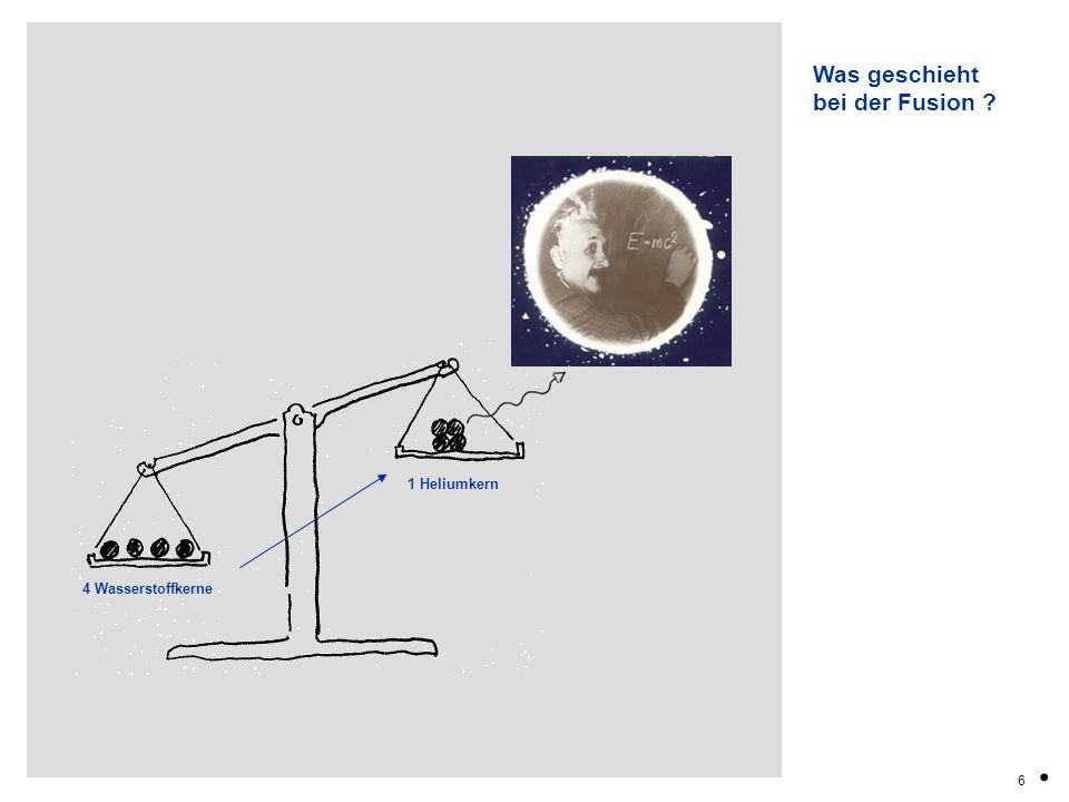 7.Der Stern im besten Alter zu einem weissen Zwerg … Und wenn der Wasserstoff aufgebraucht ist .