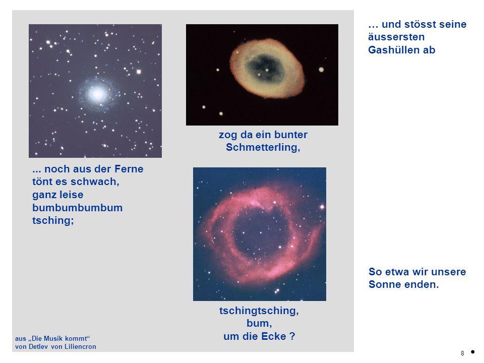 19.Eine Supernova stiftet Unruhe in benachbarten Wasserstoffwolken.
