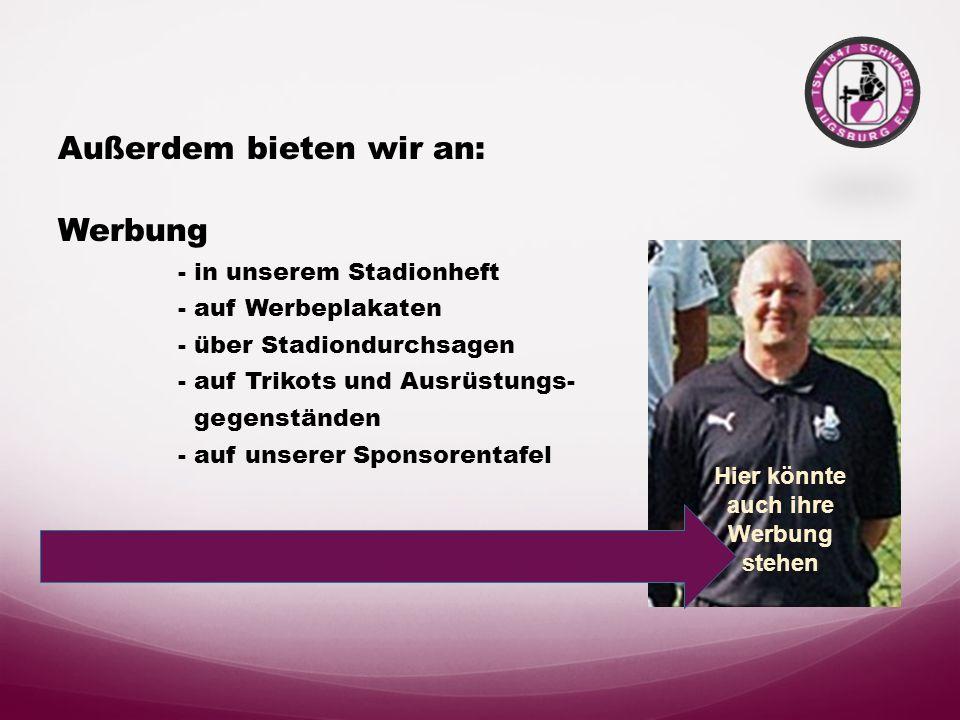 Sponsoren und Partner des TSV Schwaben Augsburg Vereinsgaststätte Schwabenhaus Pächter : Dionissios Vilardos