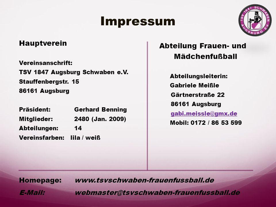 Unterstützen Sie unsere Abteilung mit Ihren Spenden !!! TSV Schwaben Augsburg Damen- u. Mädchen Fußballabteilung