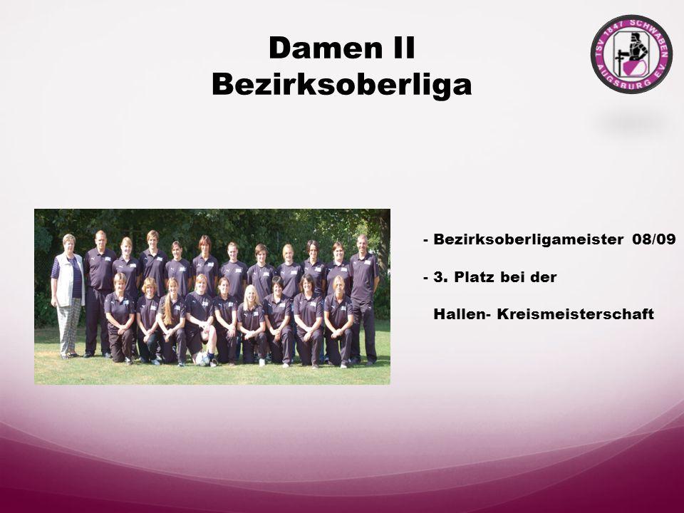 Damen II Bezirksoberliga - Bezirksoberligameister 08/09 - 3.