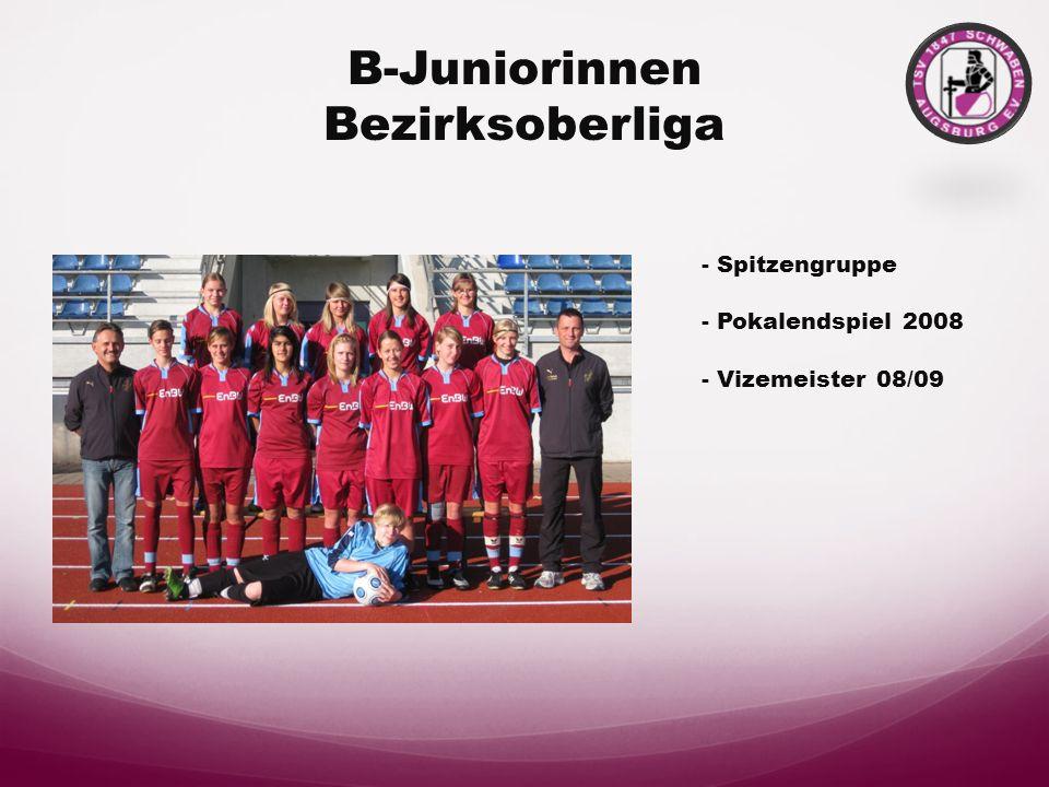 Damen II Bezirksoberliga - Bezirksoberligameister 08/09 - 3. Platz bei der Hallen- Kreismeisterschaft