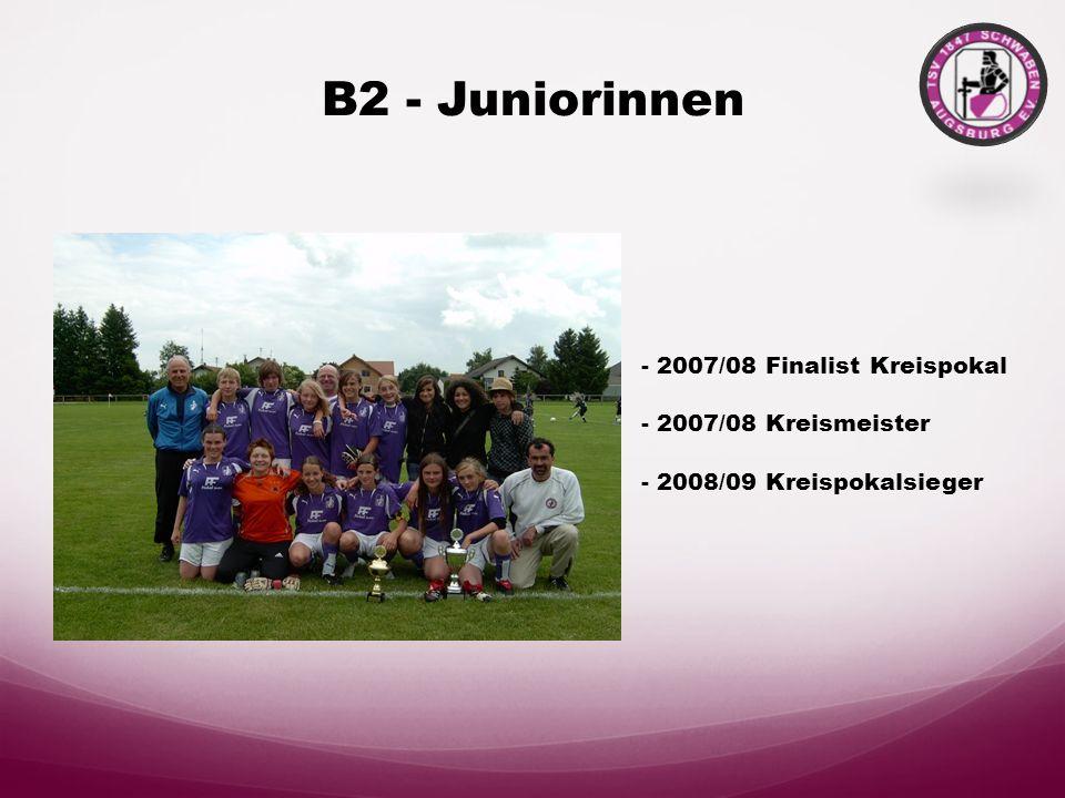 B-Juniorinnen Bezirksoberliga - Spitzengruppe - Pokalendspiel 2008 - Vizemeister 08/09