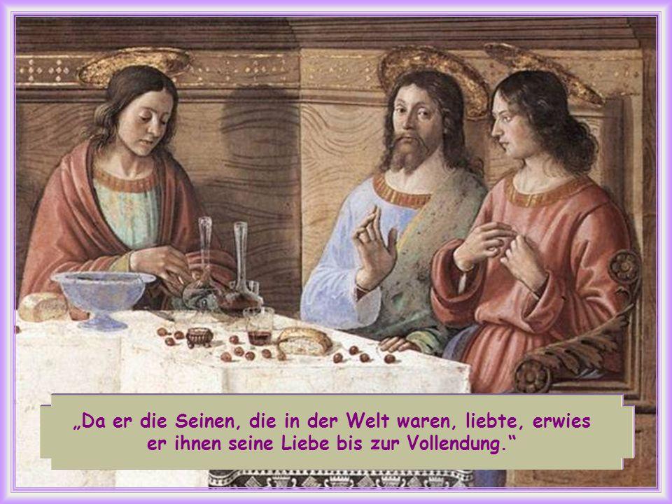 Er weiß, dass er in die Herrlichkeit eingehen wird, während die Jünger in der Welt bleiben. Sie werden sich allein fühlen und viele Prüfungen überwind