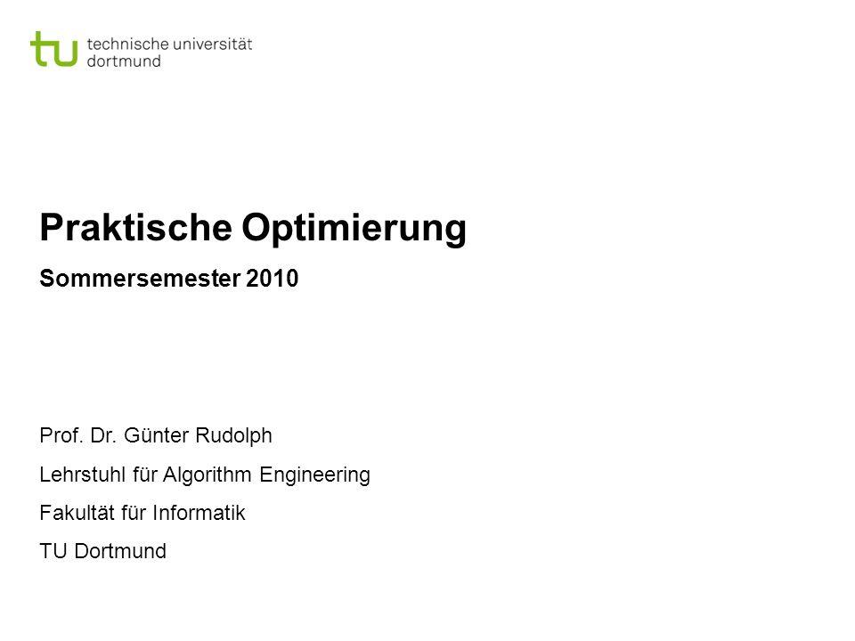 Praktische Optimierung Sommersemester 2010 Prof. Dr.