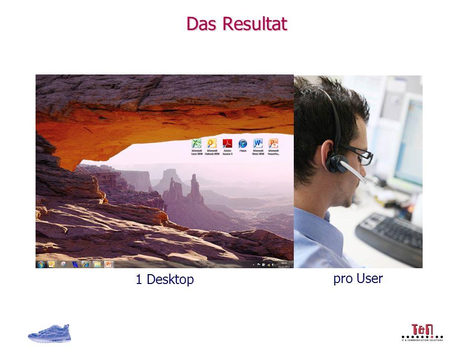 Das Resultat pro User 1 Desktop