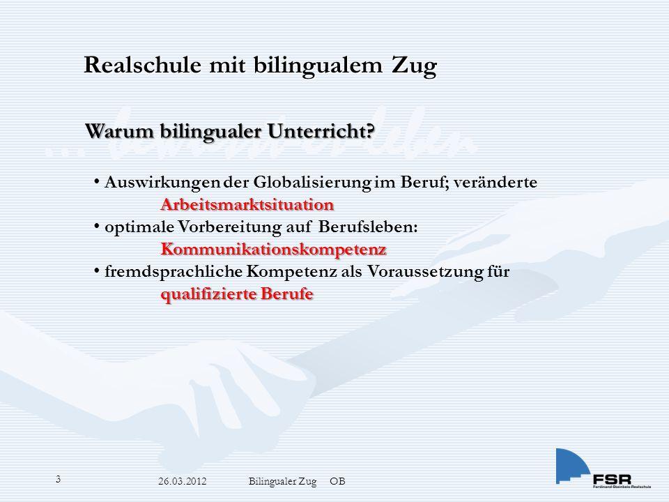 … bewusst-er-leben 26.03.2012 Bilingualer Zug OB 3 Warum bilingualer Unterricht.