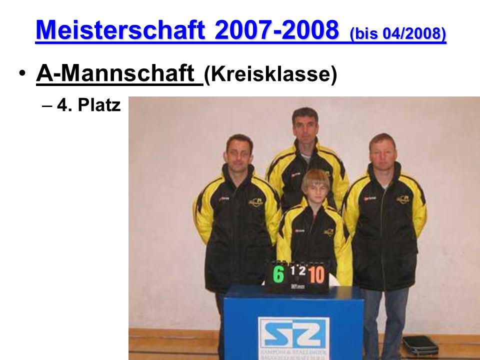 Meisterschaft 2007-2008 (bis 04/2008) A-Mannschaft (Kreisklasse) –4. Platz