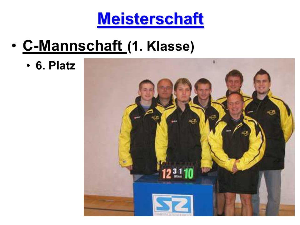 Meisterschaft C-Mannschaft (1. Klasse) 6. Platz
