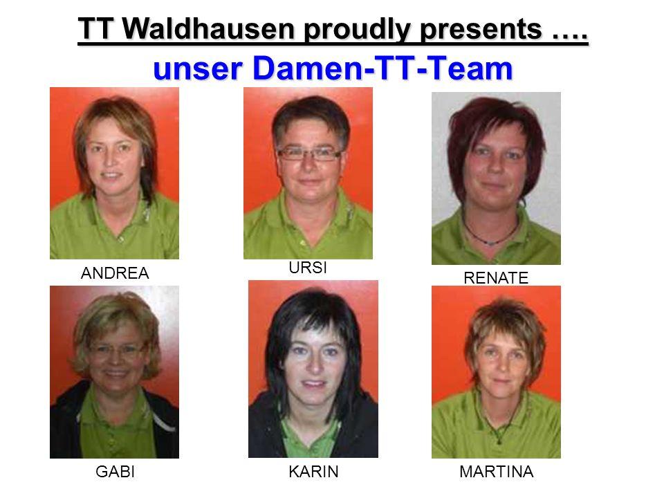 TT Waldhausen proudly presents …. unser Damen-TT-Team ANDREA URSI RENATE GABIMARTINAKARIN
