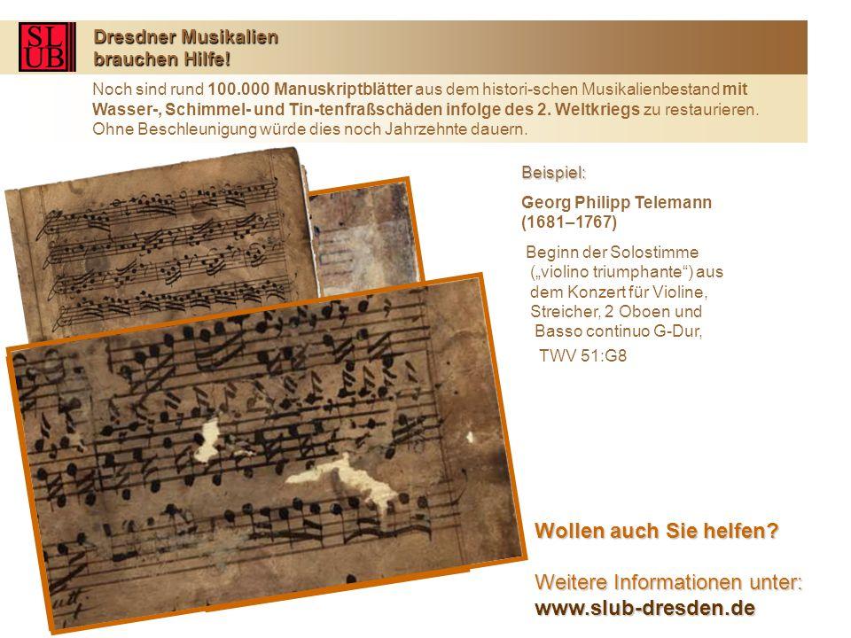 Dresdner Musikalien brauchen Hilfe.